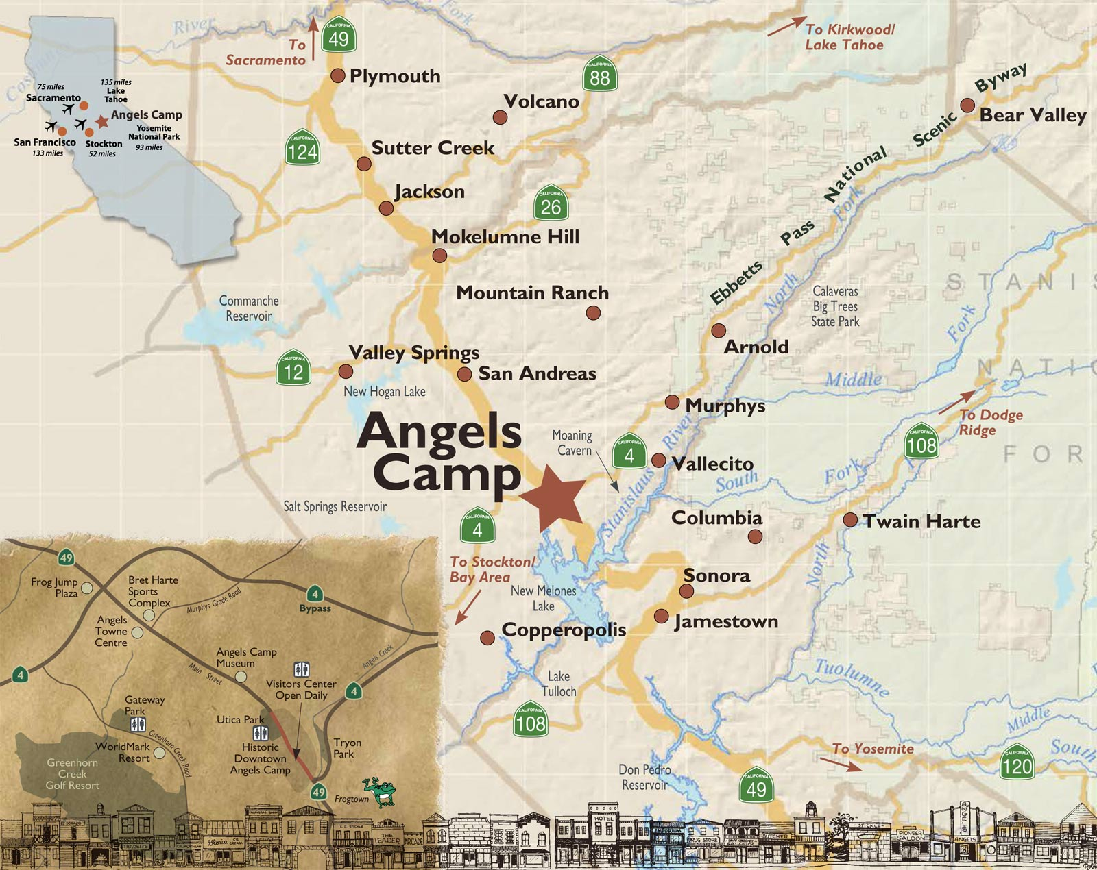 map of angels camp destination angels camp. Black Bedroom Furniture Sets. Home Design Ideas